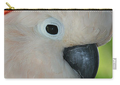 Salmon Crested Moluccan Cockatoo Carry-all Pouch by Sharon Mau