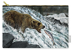 Carry-all Pouch featuring the photograph Salmon Fishing by Don Olea