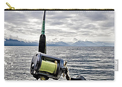 Salmon Fishing Rod Carry-all Pouch by Darcy Michaelchuk