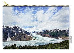 Salmon Glacier Carry-all Pouch by Heidi Brand