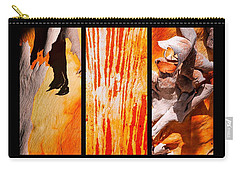 Salmon Gum Tree Triptych Carry-all Pouch