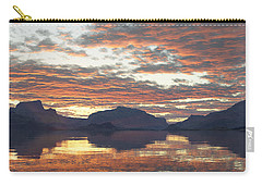 Carry-all Pouch featuring the digital art Salmon Lake Sunset by Mark Greenberg