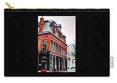 Carry-all Pouch featuring the photograph Saloon Bristol Ri by Tom Prendergast