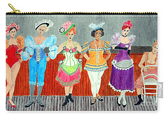 Saloon Sextet -- Portrait 1890's Women In Old West Carry-all Pouch