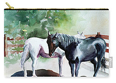 Salt And Pepper Horses Carry-all Pouch