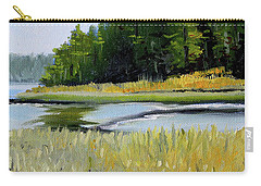 Carry-all Pouch featuring the painting Salt Creek by Nancy Merkle
