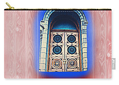 Carry-all Pouch featuring the photograph Salt Lake Temple Doors 1 by Richard W Linford