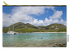 Carry-all Pouch featuring the photograph Salt Pond Bay Panoramic by Adam Romanowicz