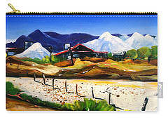 Carry-all Pouch featuring the painting Salt Works - Port Alma by Therese Alcorn