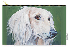 Carry-all Pouch featuring the painting Saluki Sighthound by Lee Ann Shepard