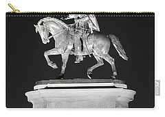 Sam Houston - Black And White Carry-all Pouch