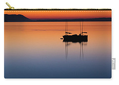 Samish Sea Sunset Carry-all Pouch by Tony Locke
