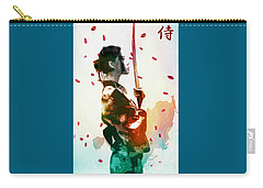 Samurai Girl - Watercolor Painting Carry-all Pouch