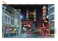 Carry-all Pouch featuring the photograph San Antonio Alight by Frozen in Time Fine Art Photography