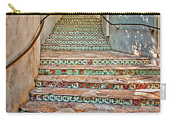 San Antonio Riverwalk Stairway Carry-all Pouch by David and Carol Kelly