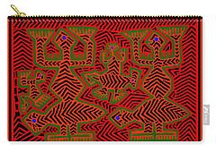 Carry-all Pouch featuring the digital art San Blas Shaman Spirits by Vagabond Folk Art - Virginia Vivier