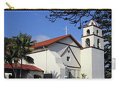 Carry-all Pouch featuring the photograph San Buenaventura Mission by Mary Ellen Frazee
