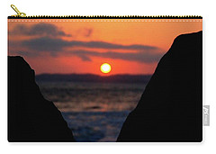 San Clemente Beach Rock View Sunset Portrait Carry-all Pouch