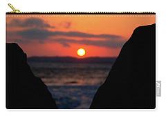 San Clemente Beach Rock View Sunset Portrait Carry-all Pouch by Matt Harang