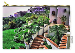 Carry-all Pouch featuring the digital art San Clemente Estate Backyard by Kathy Tarochione