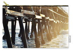 Carry-all Pouch featuring the photograph San Clemente Pier Magic Hour by Kyle Hanson