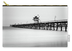 Carry-all Pouch featuring the photograph San Clemente Pier by Tassanee Angiolillo