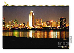 San Diego Skyline With Reflections On Mission Bay Carry-all Pouch