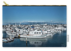 Carry-all Pouch featuring the photograph  San Diego Marina And City Skyline by Daniel Hebard