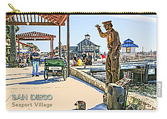 San Diego - Seaport Village Scene Carry-all Pouch