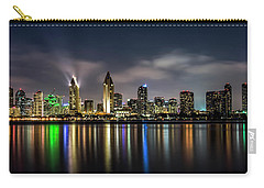 San Diego Skyline At Night Carry-all Pouch