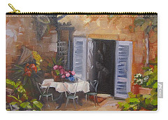 Carry-all Pouch featuring the painting San Donato Village Italy by Chris Hobel