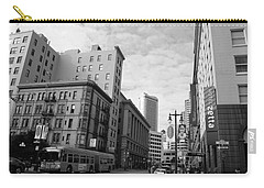 San Francisco - Jessie Street View - Black And White Carry-all Pouch by Matt Harang