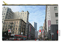 San Francisco - Jessie Street View Carry-all Pouch by Matt Harang