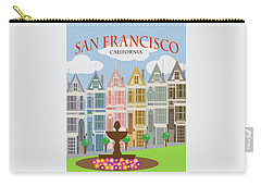 San Francisco Painted Ladies Poster Illustration Carry-all Pouch