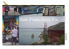 Carry-all Pouch featuring the photograph San Francisco Poster by Joan Reese