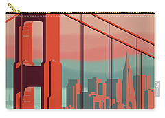 San Francisco Retro Travel Poster Carry-all Pouch