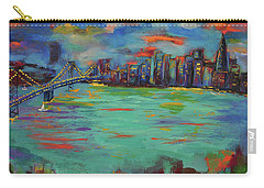 San Francisco Skyline In Sunset Carry-all Pouch