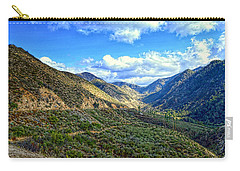 Carry-all Pouch featuring the photograph San Gabriel Mountains  by Glenn McCarthy Art and Photography