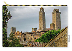 Carry-all Pouch featuring the photograph San Gimignano by Jean Haynes