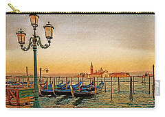 Carry-all Pouch featuring the digital art San Giorgio Maggiore Venice Gondolas by Anthony Murphy