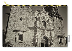 Carry-all Pouch featuring the photograph San Jose Mission - San Antonio by Stephen Stookey