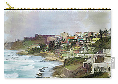 San Juan By The Ocean Carry-all Pouch by John Rivera