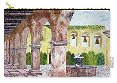 San Juan Capistrano Courtyard Carry-all Pouch by Laura Iverson