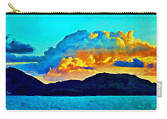 Carry-all Pouch featuring the painting San Juan Seascape by Joan Reese
