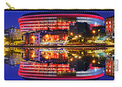 San Mames Stadium At Night With Water Reflections Carry-all Pouch