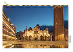 Carry-all Pouch featuring the photograph San Marco Twilight by Brian Jannsen