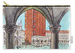 Carry-all Pouch featuring the painting San Marcos Square Venice Italy by Irina Sztukowski