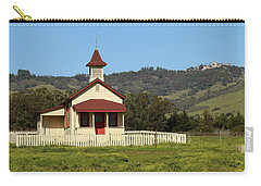 Carry-all Pouch featuring the photograph San Simeon - Castle And Schoolhouse by Art Block Collections