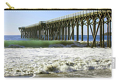 Carry-all Pouch featuring the photograph San Simeon Pier by Art Block Collections