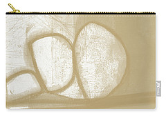Sand And Stone 1- Contemporary Abstract Art By Linda Woods Carry-all Pouch